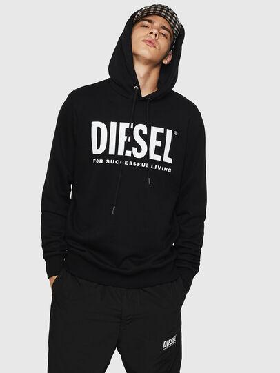 Diesel - S-GIR-HOOD-DIVISION-, Noir - Pull Cotton - Image 1