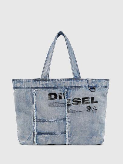 Diesel - D-THISBAG SHOPPER L, Bleu Clair - Cabas et Sacs d'Épaule - Image 1