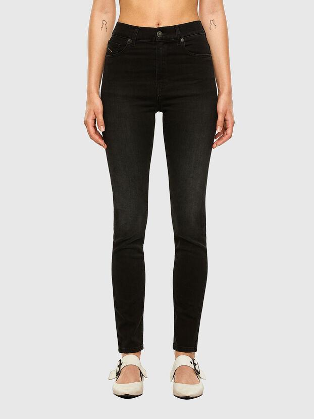 D-Roisin High 069MZ, Noir/Gris foncé - Jeans