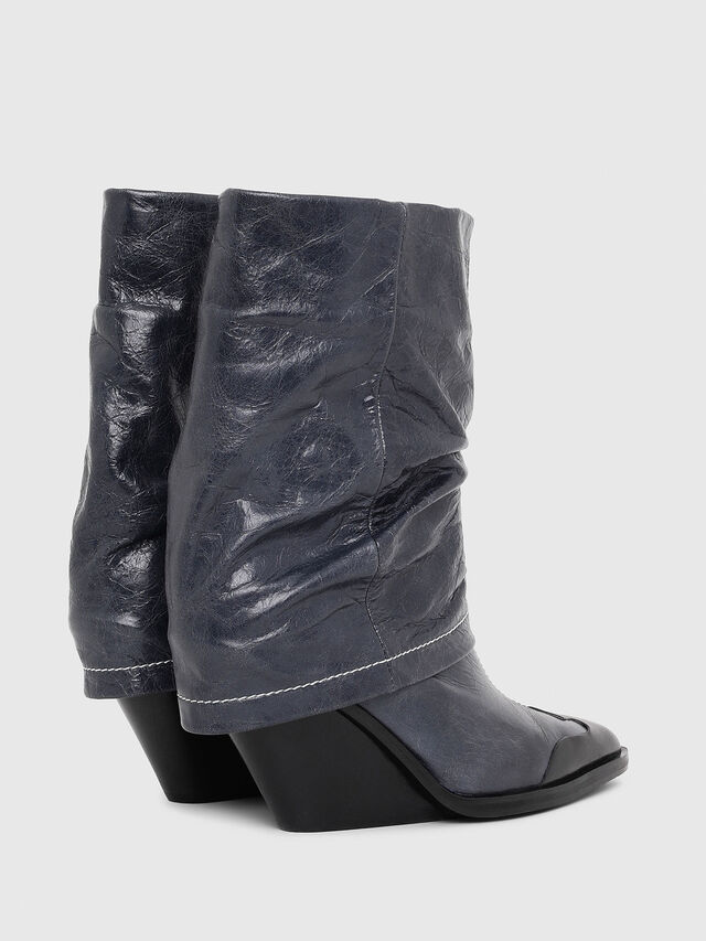 Diesel - D-WEST MB, Bleu - Bottines - Image 3