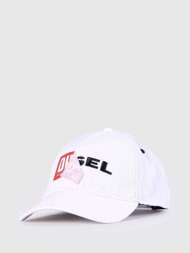 Diesel - CAKERYM, Blanc - Bérets, chapeaux et gants - Image 2