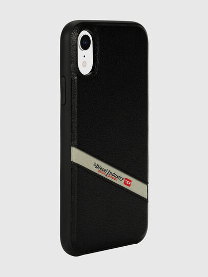 Diesel - DIESEL LEATHER CO-MOLD CASE FOR IPHONE XR, Noir - Coques - Image 6