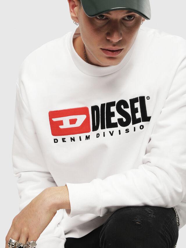 Diesel - S-CREW-DIVISION, Blanc - Pull Cotton - Image 3