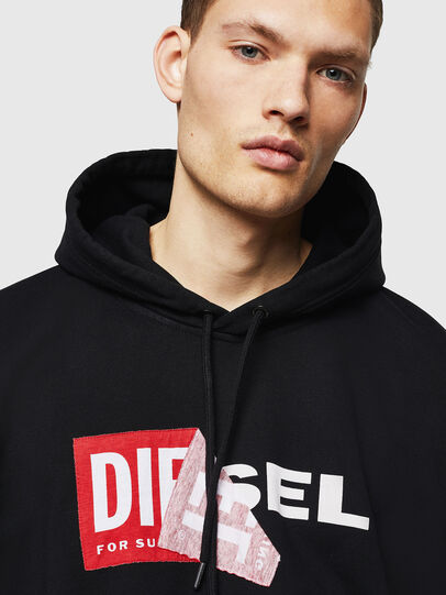 Diesel - S-ALBY, Noir - Pull Cotton - Image 3