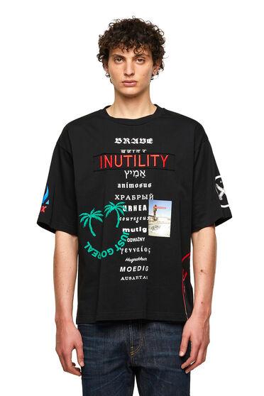 T-shirt en coton avec imprimés mixtes