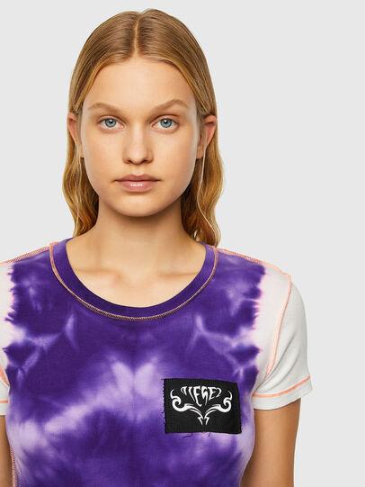 Diesel - T-SUPERY-V10, Blanc/Violet - T-Shirts - Image 3