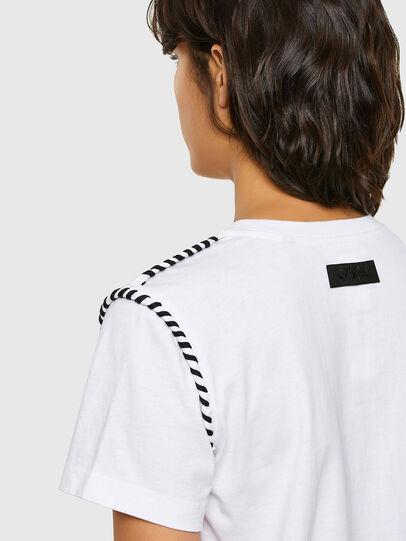 Diesel - T-TWISTY, Blanc - T-Shirts - Image 4