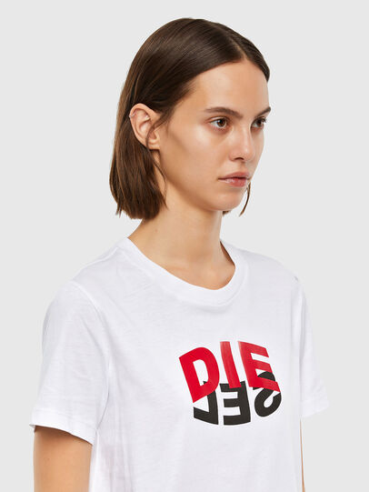 Diesel - T-SILY-V23, Blanc - T-Shirts - Image 3