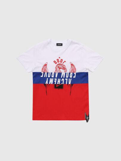 Diesel - TJUSTA1, Blanc/Rouge/Bleu - T-shirts et Hauts - Image 1