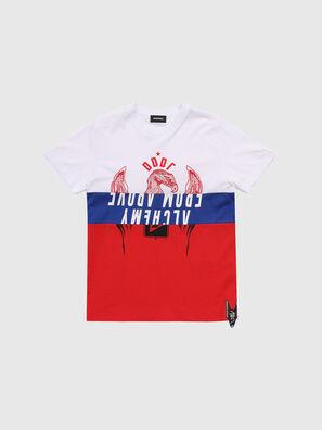 TJUSTA1, Blanc/Rouge/Bleu - T-shirts et Hauts