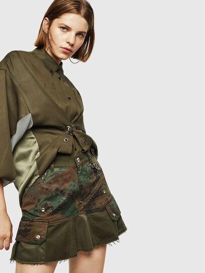 Diesel - O-AMATA, Vert Camouflage - Jupes - Image 5