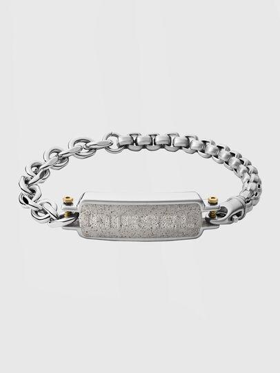 Diesel - DX1193, Gris argenté - Bracelets - Image 1