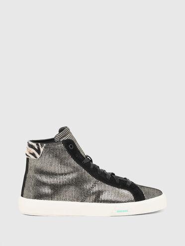 Sneakers montantes à motifs métallisés