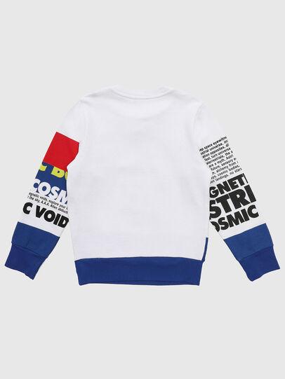 Diesel - SRUBLO, Blanc/Rouge/Bleu - Pull Cotton - Image 2