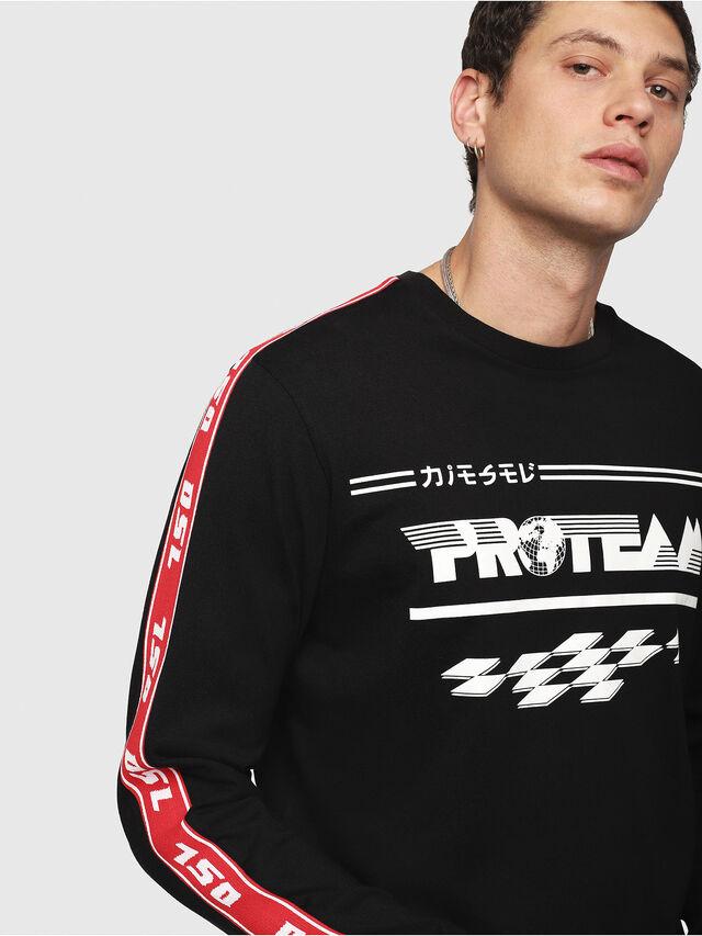 Diesel - T-JUST-LS-RACE, Noir/Blanc - T-Shirts - Image 3
