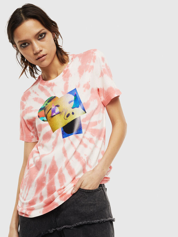 T-SILY-S4, Rose/Blanc - T-Shirts