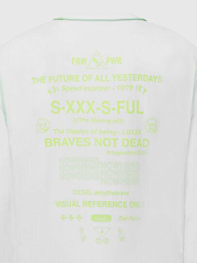 Diesel - T-JUSEAM-LS, Blanc - T-Shirts - Image 5