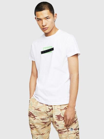 Diesel - T-DIEGO-S7, Blanc/Vert - T-Shirts - Image 1