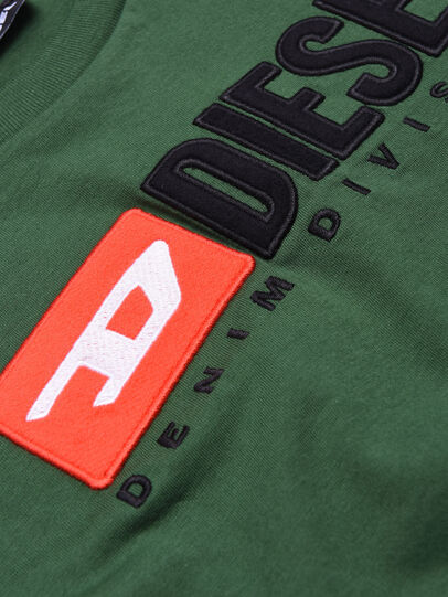 Diesel - TJUSTDIVISION, Vert Bouteille - T-shirts et Hauts - Image 3