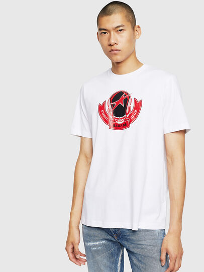 Diesel - T-JUST-B1, Blanc - T-Shirts - Image 1