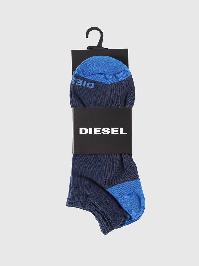 Diesel SKM-GOST-THREEPACK, Indigo - Chaussettes basses - Image 2