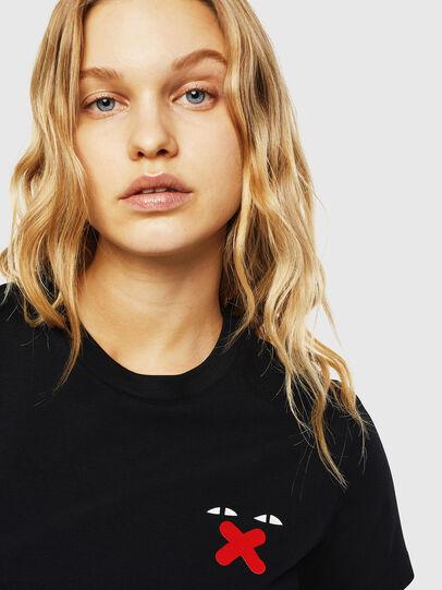 Diesel - UFTEE-SILY-INT, Noir - T-Shirts - Image 3