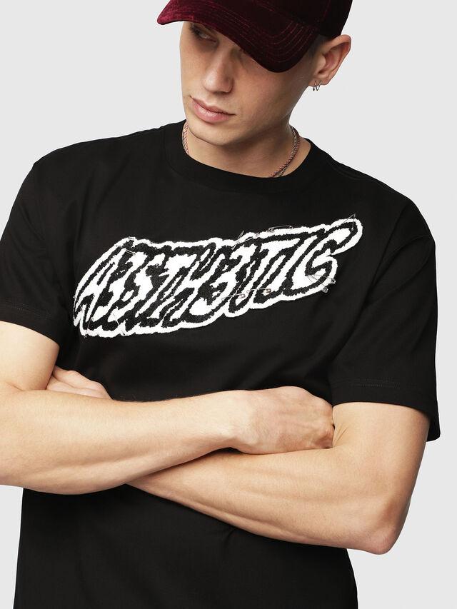 Diesel - T-WALLACE-YC, Noir - T-Shirts - Image 3