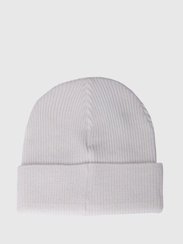 Diesel - K-CODER, Blanc - Bérets, chapeaux et gants - Image 2