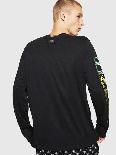 Diesel - T-JUST-LS-B5, Noir - T-Shirts - Image 2