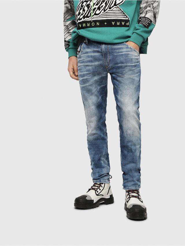 Diesel - Krooley JoggJeans 087AC, Bleu moyen - Jeans - Image 1