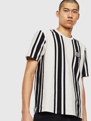 T-STRIP-J1, Blanc/Noir - T-Shirts