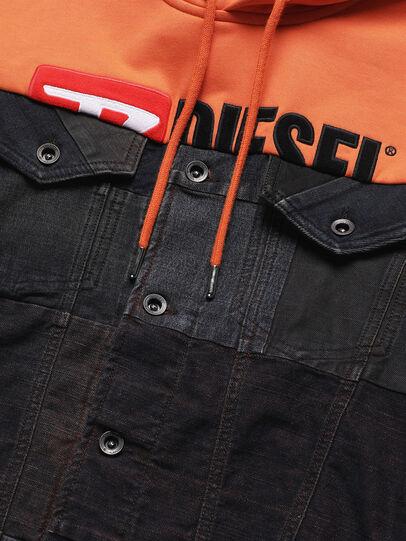 Diesel - D-BNHILL55, Orange - Vestes en denim - Image 4