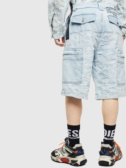 Diesel - D-LUK-SHORT, Bleu Clair - Shorts - Image 2