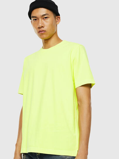 Diesel - T-JUST-SLITS-FLUO, Jaune Fluo - T-Shirts - Image 1