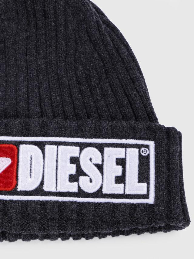 Diesel - K-CODER-B, Noir - Bérets, chapeaux et gants - Image 3