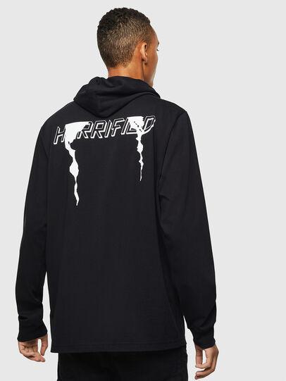 Diesel - T-JUST-LS-HOOD-J5, Noir - T-Shirts - Image 2