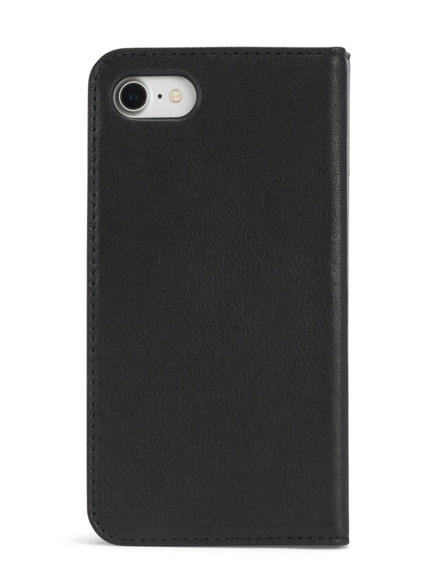 BLACK DENIM/STUD/ZIPPER IPHONE 8/7 FOLIO, Noir