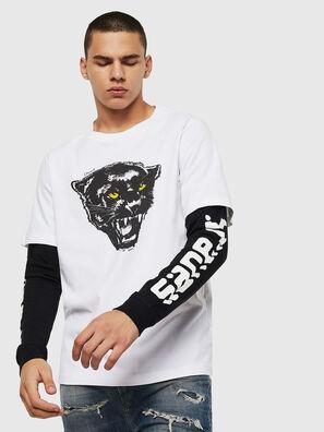 T-SHOOT-B2, Blanc/Noir - T-Shirts
