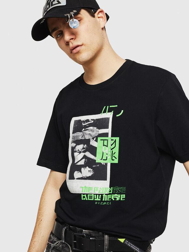 Diesel - T-JUST-Y21, Noir - T-Shirts - Image 4