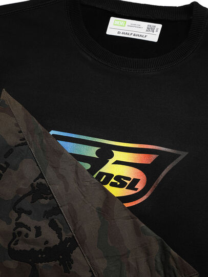 Diesel - D-HALF&HALF, Noir - Pull Cotton - Image 4