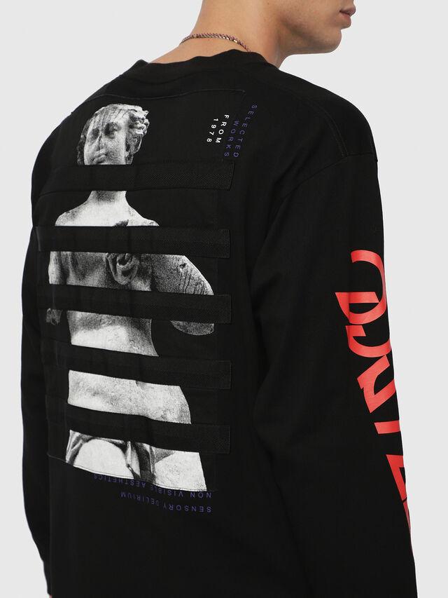 Diesel - T-LUCAS-LS-YB, Noir - T-Shirts - Image 2