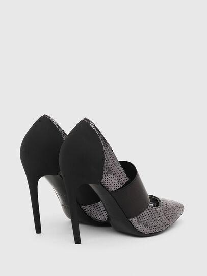 Diesel - D-SLANTY HHE, Noir/Gris argenté - Chaussures À Talon - Image 3