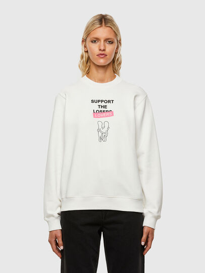 Diesel - F-ANG-R10, Blanc - Pull Cotton - Image 1