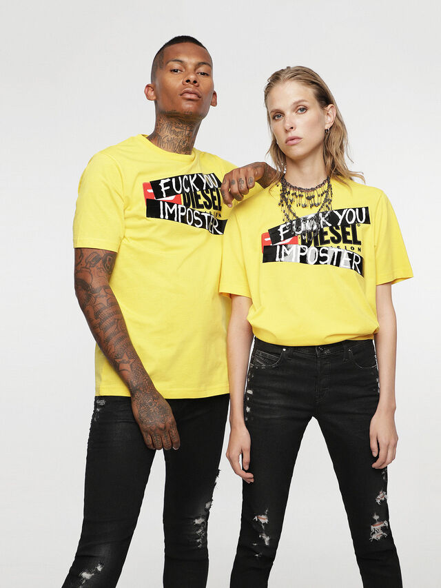 Diesel - HC-T-JUST-DIVISION-B, Jaune - T-Shirts - Image 2