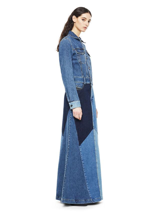 1f4f2dd804 DINAP Femme: Robe longue en denim aux différents délavages | Diesel