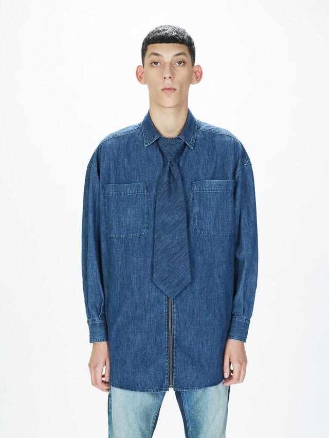 Diesel - SOTS01, Bleu Foncé - Chemises - Image 3