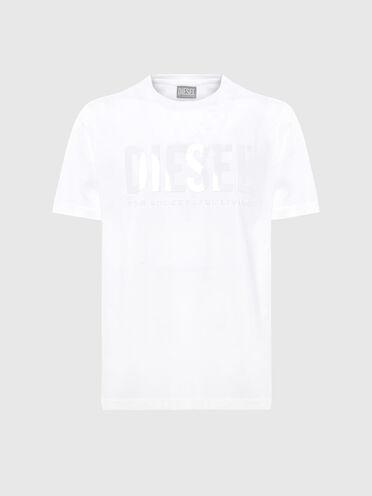 T-shirt label vert avec imprimé ton sur ton