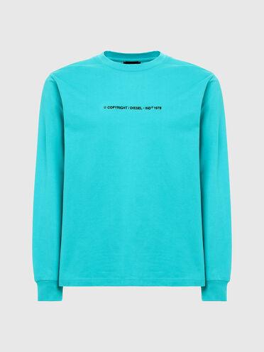 T-shirt à manches longues avec logo brodé