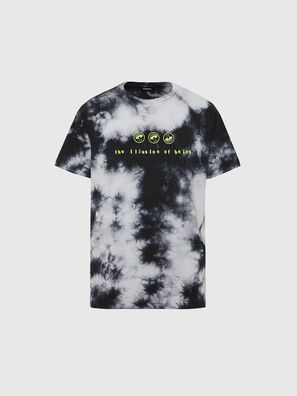 T-JUST-SLITS-X86, Noir/Blanc - T-Shirts