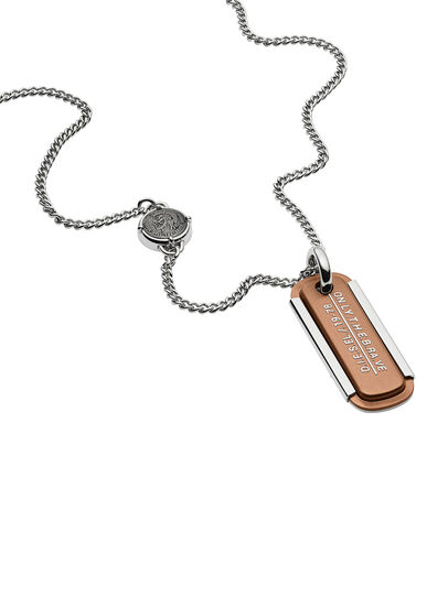 Diesel - NECKLACE DX1095, Bronze - Colliers - Image 2